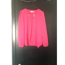 Camisa ¿ Chifon Rosa Importada