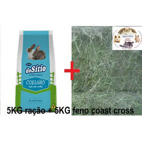 Feno Coast Cross 5kg + Ração Coelhão Guabi 5kg