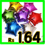 Kit 10 Balão Metalizado Estrelas Cores 45cm