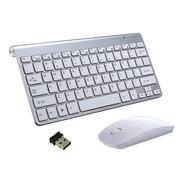 Kit Teclado Slim + Mouse Sem Fio 2.4g Ultra Fino Pc Notebook
