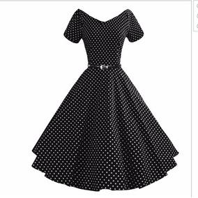 Vestido Bolas Bolinhas Anos 60 Vintage Pinup Retrô