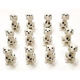 12 Mini Figuras De Perros Dálmatas. Pequeños Cachorros De