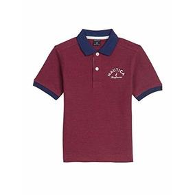 Nautica Camisa Tipo Polo Niño Red Rouge Talla 4