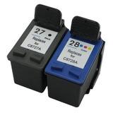 Combo Para Impresora Cartucho 27 Xl Negro + 28 Xl Color