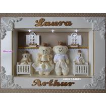 Porta Maternidade Gêmeos Com Coroa - P966 !!!