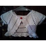 Bolero Mariposa Tejido A Crochet Para Bebas Y Niñas