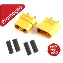 Xt90 Conector 1 Par + Termo Lipo Bateria Turnigy Hobbyking