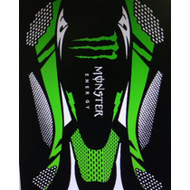 Capa De Banco Para Motos Antiderrapante Monster Energy
