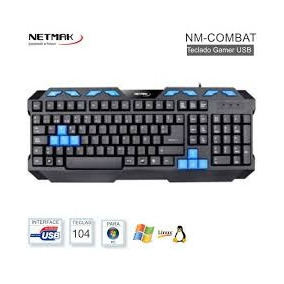Teclado Gamer Netmak Nm-combat Multimedia Usb