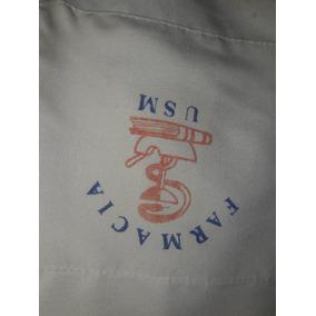 Camisa Uniforme Farmacia T 44 Logo Usm Poco Uso 1750,00