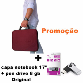 Pasta P/ Notebook Positivo 17 Pol. - Cores + Pen Drive 8 Gb