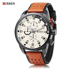 Curren 8250 Masculino Quartz Luminous Sub-dial 3atm Tdp 5.5