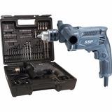 Furadeira De Impacto 13mm 430w Maleta Acessórios Mhp132x100