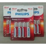 3 Cartelas Com 4 Pilhas Alcalinas Aa Philips Power Alkaline