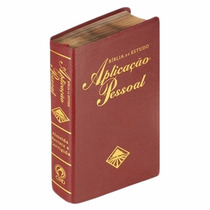 Bíblia Estudo Aplicação Pessoal Grande Vinho