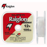 Linha Monofilamento Super Raiglon Transparente 100m - 0,37mm