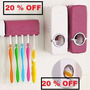 Dispenser Pasta Dental Porta Cepillos 2 En 1 Por Mayor X 10