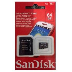 Cartão Memória Micro Sd 64gb Hc Class 10 100% Original Li@ *