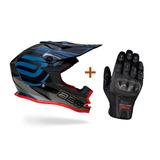 Capacete Asw Fusion Preto Motocross Trilha Enduro + Luva X11