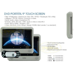 Par De Encosto 9 Pol Touch Screen Montor Portátil Dvd Usb Sd