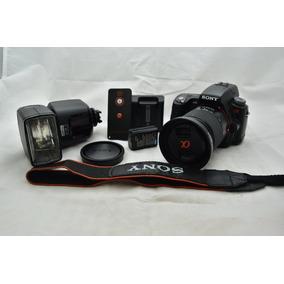 Camera Dslr Sony Alpha A55 + Flash Metz Mecablitz 44 Af1