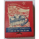 Caixa De Fósforos Sorveteira Doméstica Carpigiani