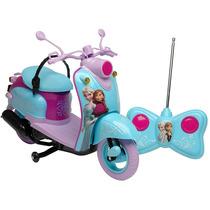 Carrinho Controle Remoto Frozen Moto Giro Gelado