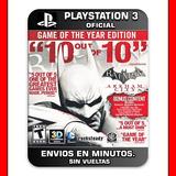 Batman Arkham City Ps3 :: Digital :: Ultimate Edition