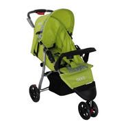 Carrinho De Bebe 3 Rodas Reclinavel Verde Com Preto Deko Sta
