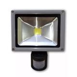Refletor De Led 20w Com Sensor De Presença Luz Branco Frio