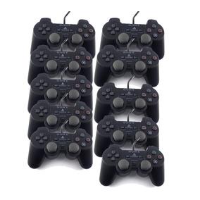 Leilão 10 Controle Ps2 Sony Players Play Game Defeito A9758