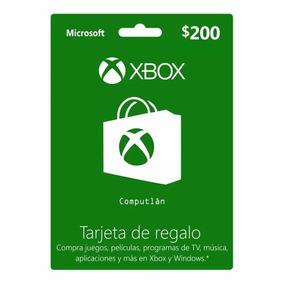 Tarjeta De Regalo Digital Xbox Live Lic Online $200
