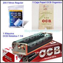 Ocb Maquina Armar Metalica + 200 Filtros + Papel Organico