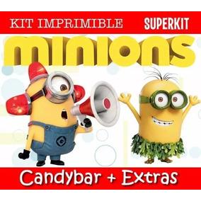 Kit Imprimible Minions Mi Villano Favorito Invitaciones