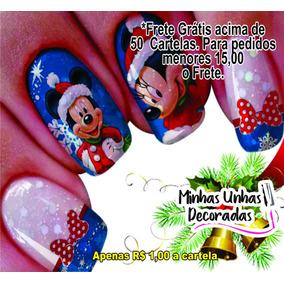 Adesivos De Unhas Natal Películas 50 Cartelas Promoção !