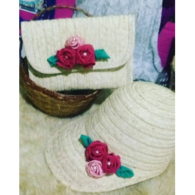 Sobres Carteras Artesanales Gorra Sombrero Tejido En Moriche c66d16fe9f7