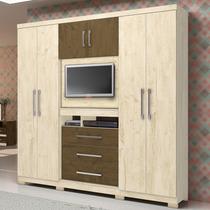 Roupeiro Mult 6 Prts 3 Gvts Com Painel Tv 32 Dubai Av W/ca W