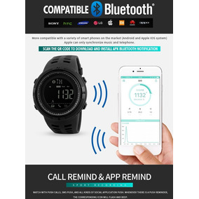 Relógio Skmei Pedometro Bluetooth Calorias Smart Watch 1250