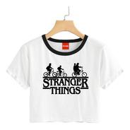 Blusa Stranger Things Colores Playera Bicicletas Crop 038