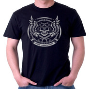Camiseta Camisa Motoqueiro Máquina Quente Caveira Velocidad