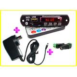 Módulo Mp 3 Usb/sd/fm/aux C/ Bluetooth Con Fuente Y Conector