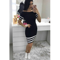 Vestido Tube Dress Com Manguinhas Tubinho