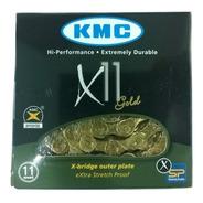 Corrente Kmc X11 Gold Dourada 116l 11v Shimano Sram