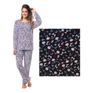 Pijama Mulher Adulto Liganete Calça Manga Comprida
