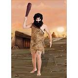 Disfraz De Cavernicola C/barba Y Peluca Adulto Talle 1