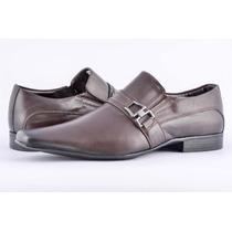 Sapato Social Masculino Couro Legitimo Marrom Pé De Ferro