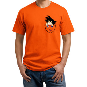 Playeras O Camiseta Goku En El Bolsillo Dragon Ball Z