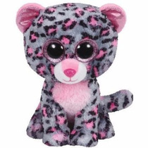 Peluche Ty Boos Leopardo Rosa Tasha 23 - Jugueteria Aplausos