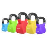 Pesa Rusa Combo 100 Lbs Kettlebell Crossfit Gym Neopreno