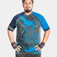 Camisa Ciclista Poker Hanya Manga Curta Extra Grande